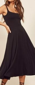 Reformation black Mary maxi dress